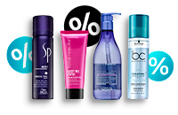 -10% discount on hair cosmetics