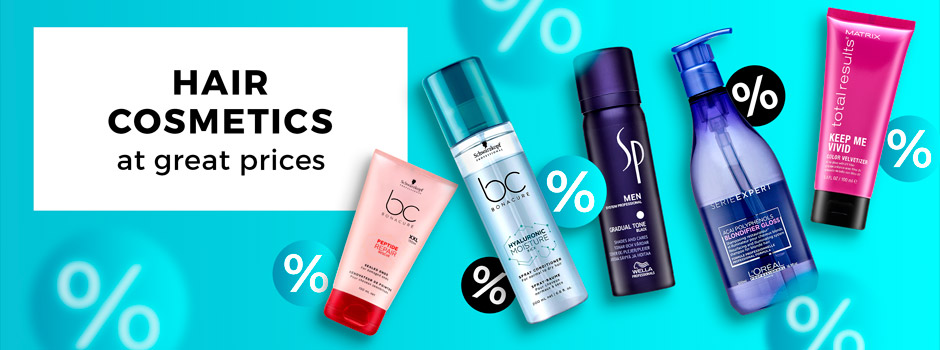 Hair cosmetics at great prices