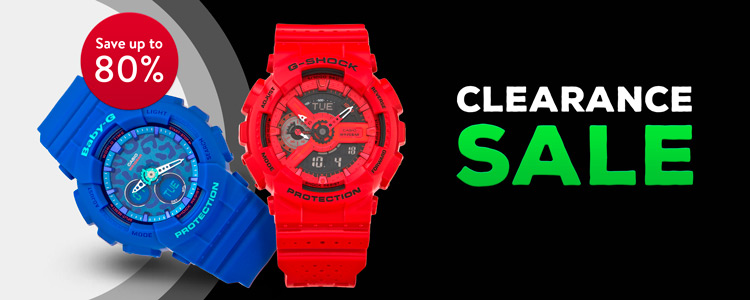 Brutal sale of casio watches